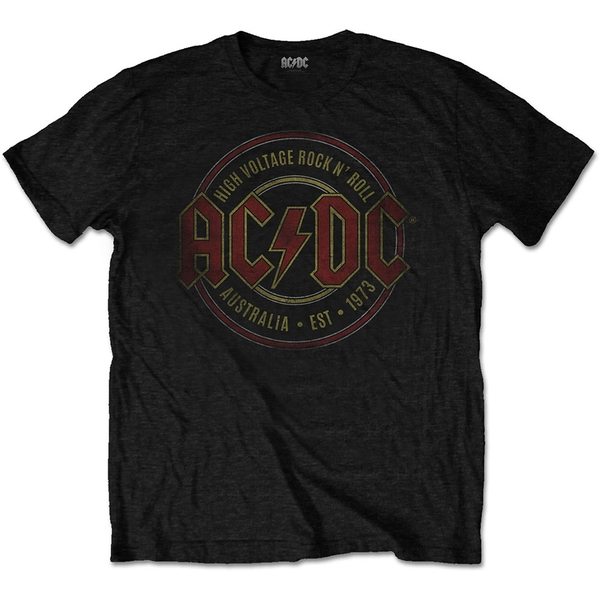 AC/DC - Est. 1973 Men's XX-Large T-Shirt - Black