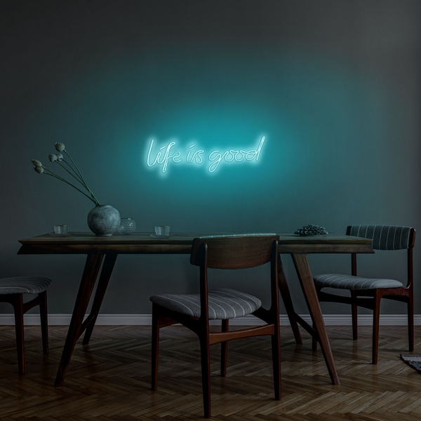 Life Is Good - Blue Blue Wall Lamp