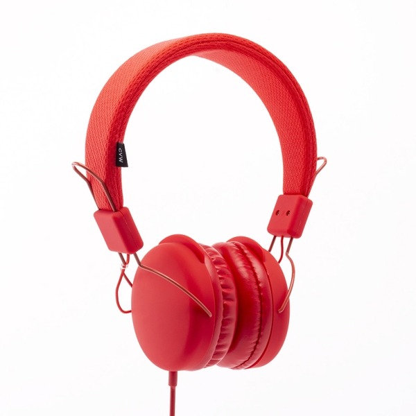 Urbanz PASTEL-CL Pastel Stereo Headphones - Coral