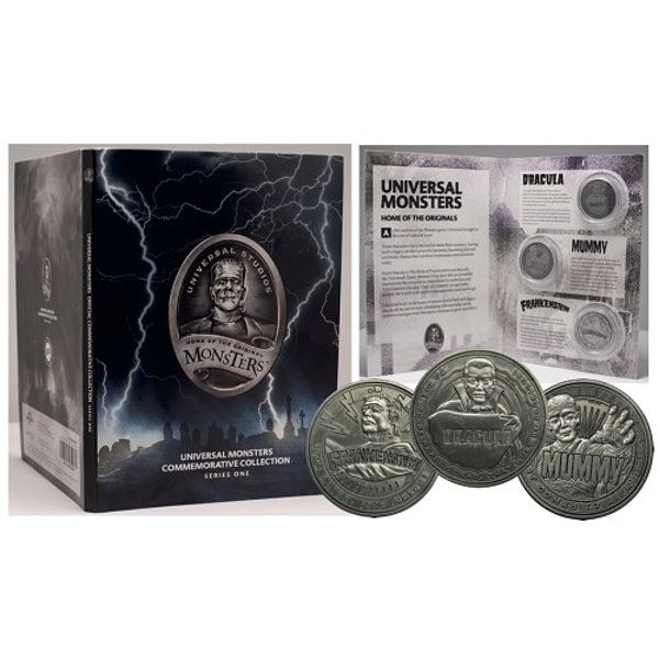 Universal Monsters Collectable Coin Set (Silver) - Image 1