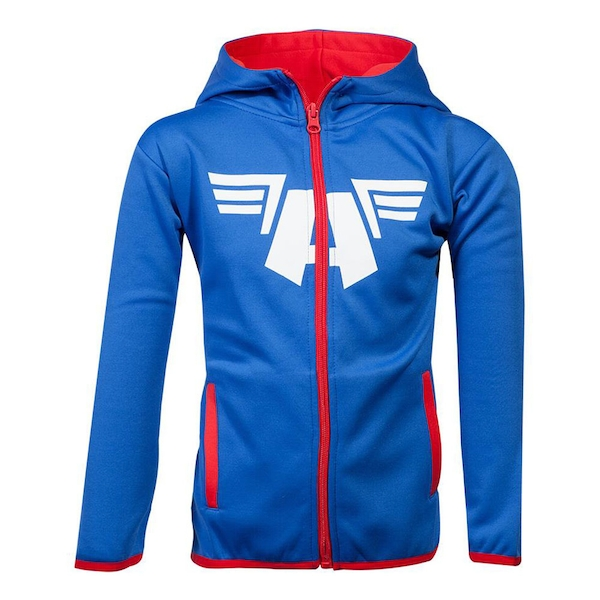 Marvel Comics - Captain America Logo Kid's 146/152 Hoodie - Blue/Red