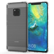 Caseflex Huawei Mate 20 Pro Carbon Fibre Gel Case - Clear