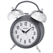 Seiko QHK051N Large Bell Alarm Clock with Snooze - Matt Grey