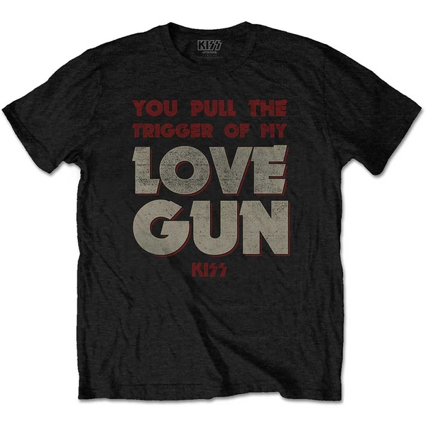 KISS - Pull The Trigger Men's Medium T-Shirt - Black