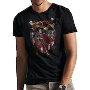 Superman - Shield And Eagle Men's Small T-Shirt - Black