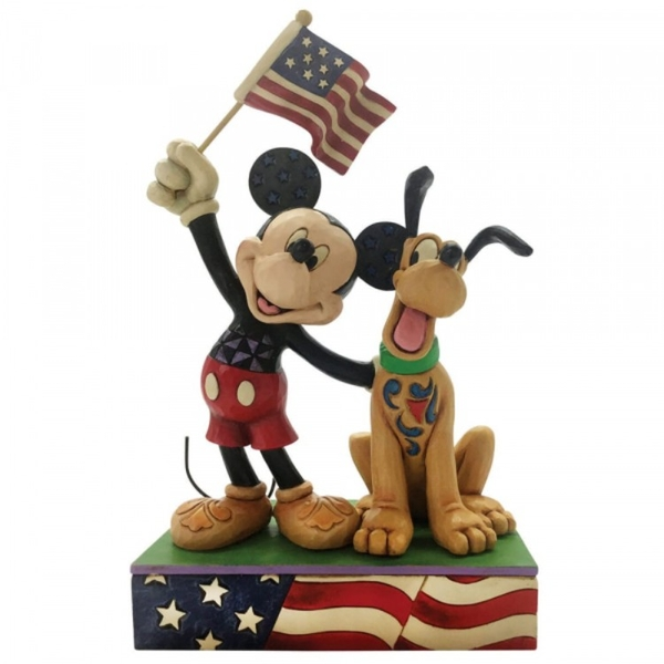 A Banner Day (Mickey and Pluto) Patriotic Figurine
