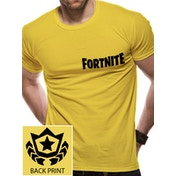 Fortnite - Battle Star Youth Men's X-Large T-shirt - Yellow