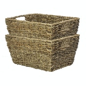 Natural Seagrass Storage Basket | M&W Set of 2