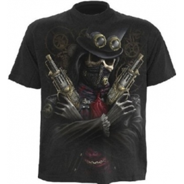 Spiral Steam Punk Bandit T-Shirt Medium Black