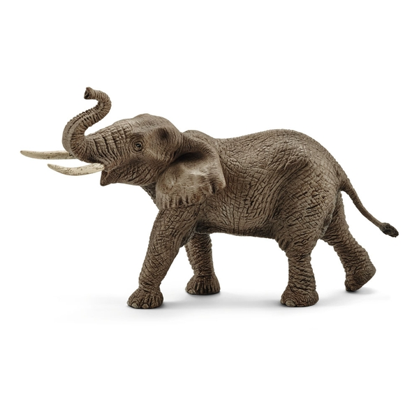 SCHLEICH Wild Life Male African Elephant Toy Figure