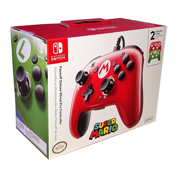Faceoff Deluxe Wired Pro Controller Super Mario Edition for Nintendo Switch - Image 1