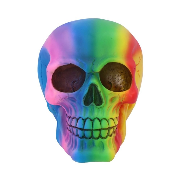 Rainbow Skull Ornament