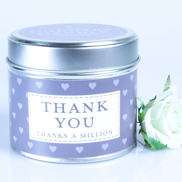 Thank You (Sentiment Collection) Tin Candle