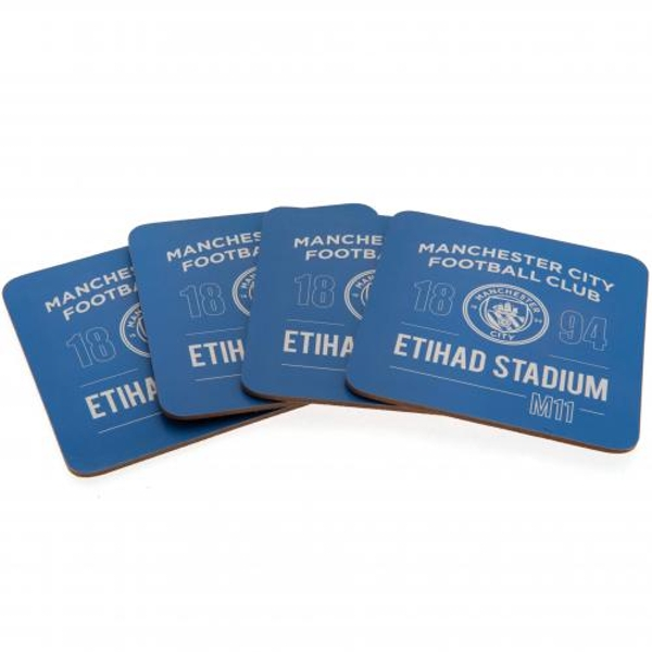 Manchester City FC (Pack Of 4) Coaster Set