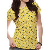 Looney Tunes - Tweety Face Sublimated Women's Large T-Shirt - Yellow