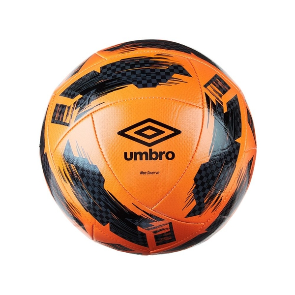 Umbro Swerve Football Orange Black Size 4