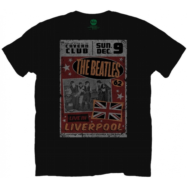 The Beatles Live in Liverpool Men's X-Large T-Shirt - Black