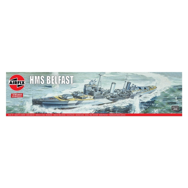 HMS Belfast 1:600 Vintage Classic Warship Air Fix Model Kit