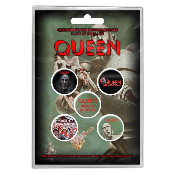 Queen - News of the World Button Badge Pack