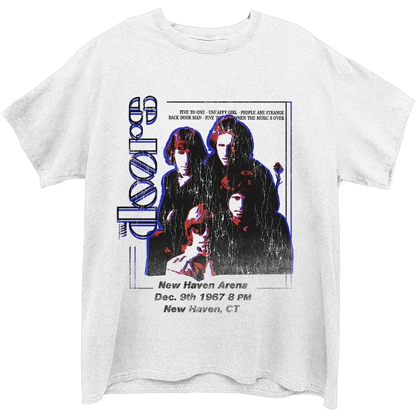 The Doors - New Haven Unisex Large T-Shirt - White