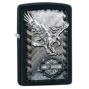 Zippo Harley Davidson Iron Eagle Black Matte Windproof Lighter