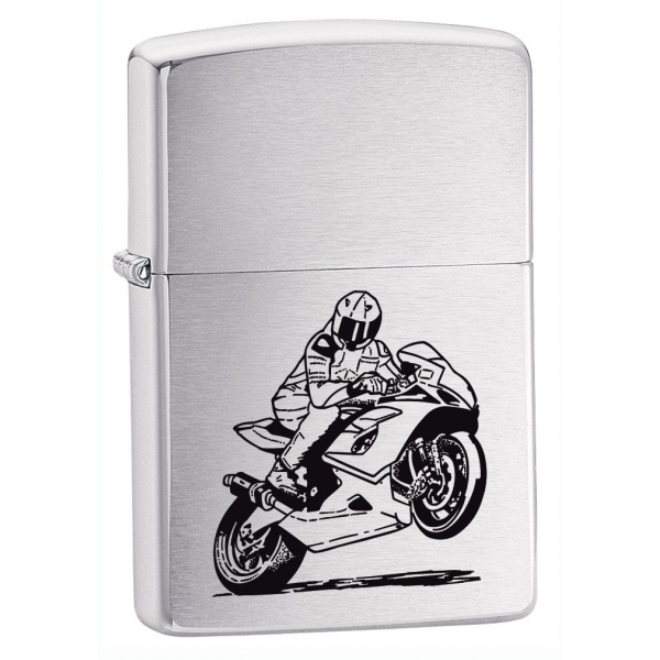 Zippo Motorcycle Lighter Brushed Chrome