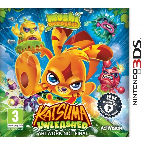 Moshi Monsters Katsuma Unleashed Game 3DS