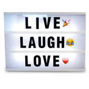 A4 Cinematic Lightbox 170 Emoji/Letters & Free USB Cable M&W Lightbox