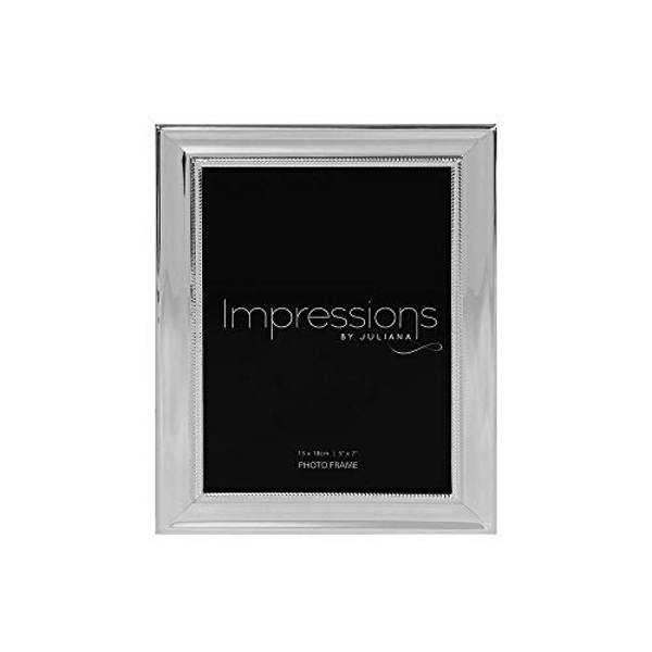 """5"""" x 7"""" - IMPRESSIONS? Silver Plated Frame with Beaded Edge"""