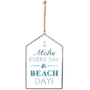 Glass Make Every Day A Beach Day Hanging Sign