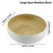 Bamboo Serving Bowl | M&W Large White - Image 4