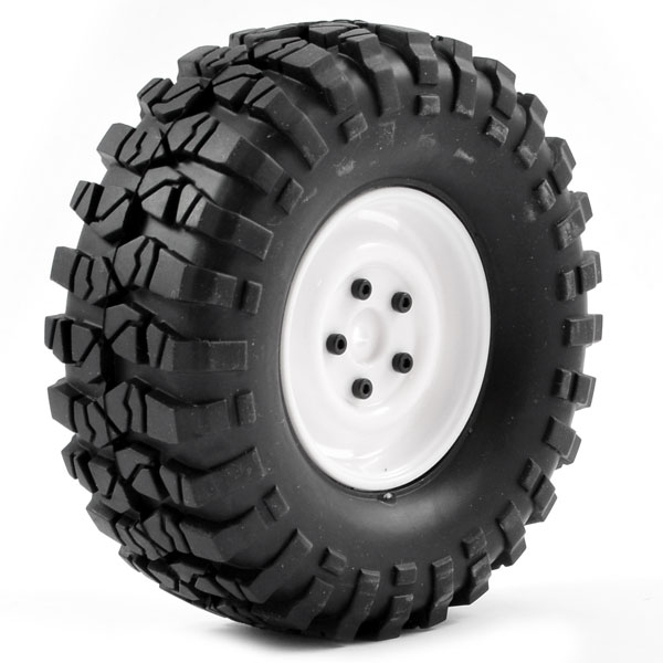 Ftx Outback Pre-Mounted Steel Look Lug/Tyre (2) - White