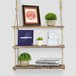 Wooden Hanging Shelf | M&W 3 Tier - Image 2