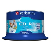 Verbatim CD-R AZO Wide Inkjet Printable no ID CD-R 700MB 50pc(s)