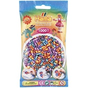 Hama - 1000 Beads in Bag (Multicoloured Striped Mix)
