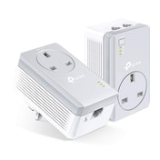 TP-LINK AV600 2-port Passthrough Powerline Starter Kit UK Plug