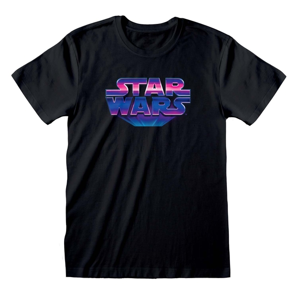 Star Wars - 80s Logo Unisex X-Large T-Shirt - Black