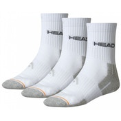 Head Crew Socks 35/38 White PK3