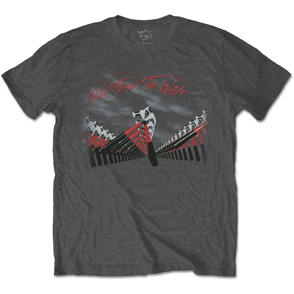 Pink Floyd - The Wall Marching Hammers Unisex Small T-Shirt - Grey