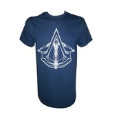 Assassins Creed Unity Crossbow Crest T-Shirt Medium Blue