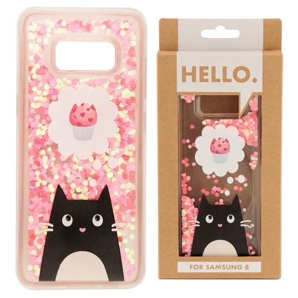 Feline Fine Cat Cupcake Design Samsung 8 Phone Case
