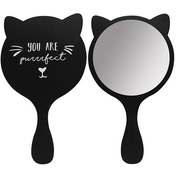 Black Cat Handheld Mirror