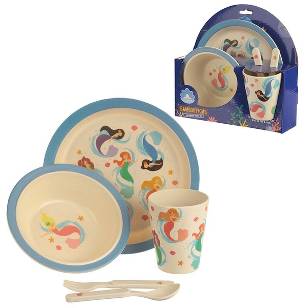 Mermaid Design Kids Dinner Set Bambootique