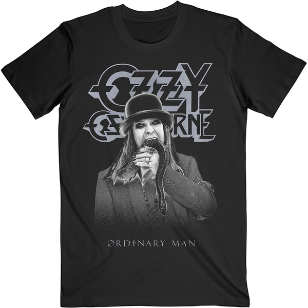 Ozzy Osbourne - Ordinary Man Snake Ryograph Unisex Large T-Shirt - Black
