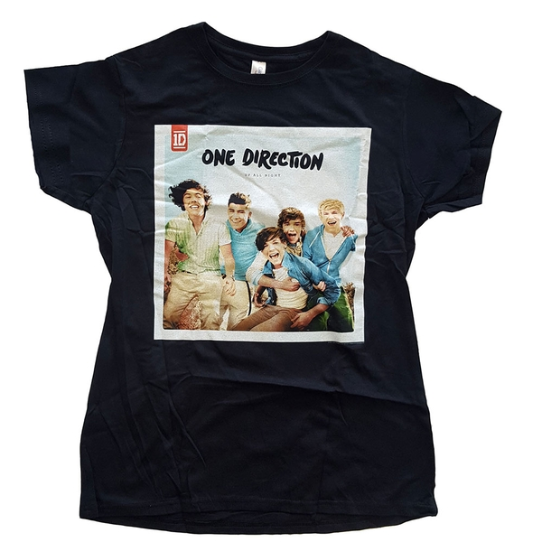 One Direction - Up All Night Ladies Large T-Shirt - Black
