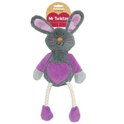 Rosewood Mr Twister Ruby Rabbit Soft Dog Toy