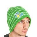 Pokemon Unisex Squirtle Striped Cuffless Green Beanie