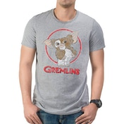 Gremlins - Gizmo Distressed Unisex Large T-shirt - Grey