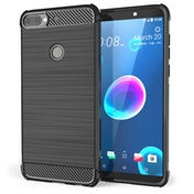 CASEFLEX HTC DESIRE 12 PLUS CARBON ANTI FALL TPU CASE - BLACK