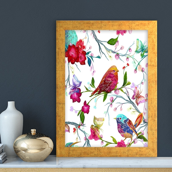 AC6117007102 Multicolor Decorative Framed MDF Painting